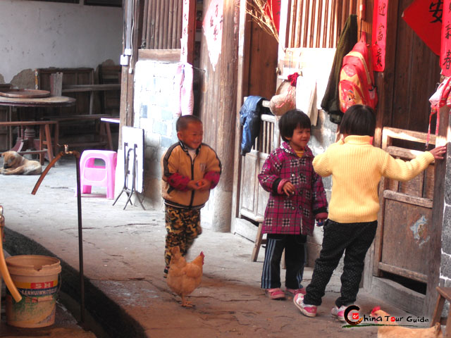 Fujian Tulou Local Kids