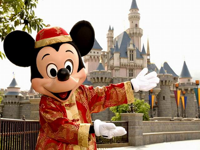 Mickey Dressed in Tang Suitk