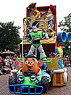 Disneyland on parade with Buzz Lightyear