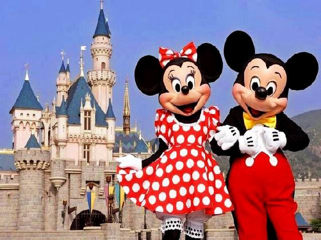 Mickey and Minnie Mouse Welcome You