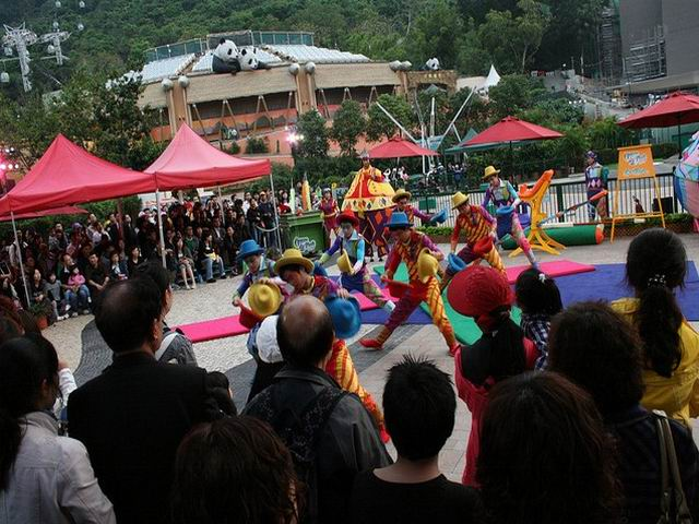 Acrobatics Show in the Open Air