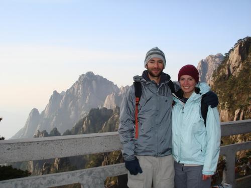 Hiking People on Mt. Huangshan