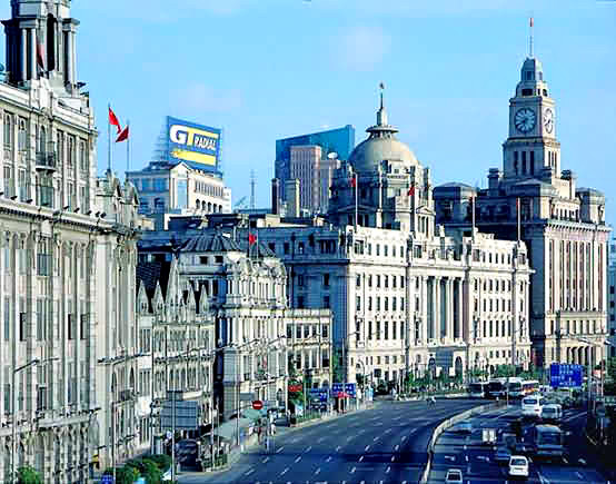 Gothic Buildings at the Bund