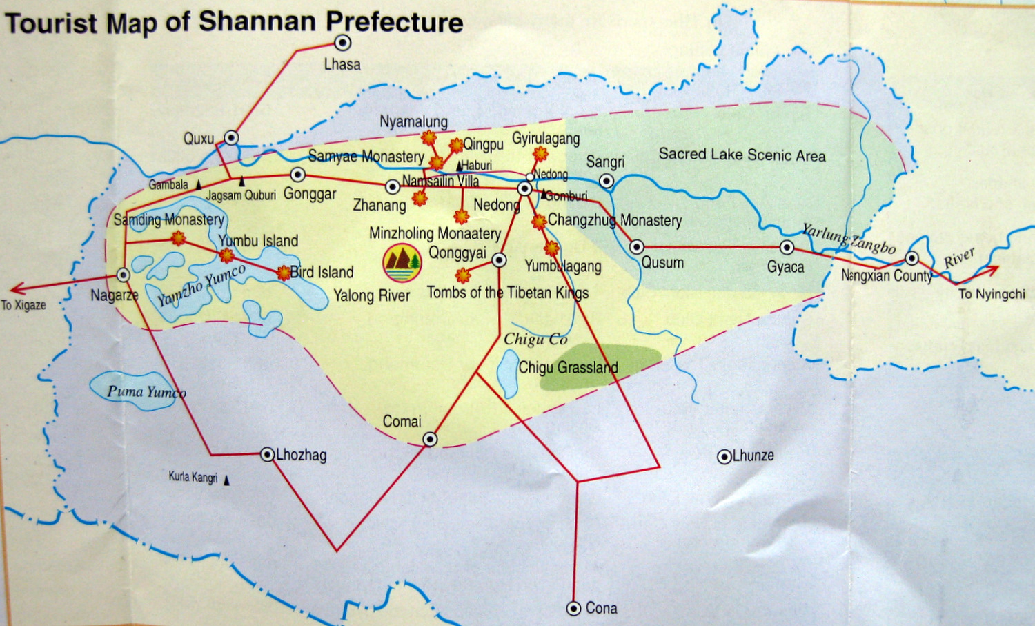 Shannan Map