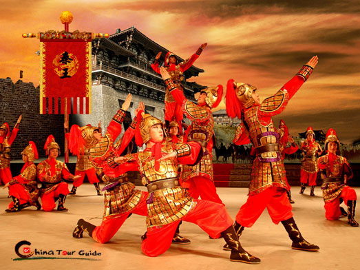 Tang Dynasty Show Emperor Meeting His Army