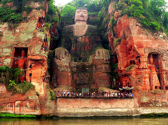 What a great the Leshan Giant Buddha.