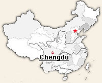 location of chengdu in China