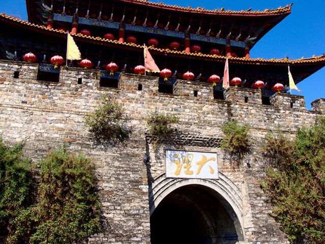 Ancient Wall Gate of Dali
