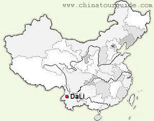 Dali China Map