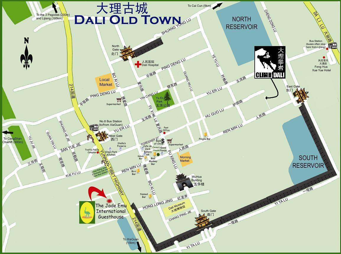 Dali Ancient Town Map