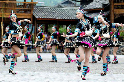 guizhou girl dance