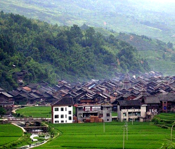 Overview of Zhaoxing Dong Village