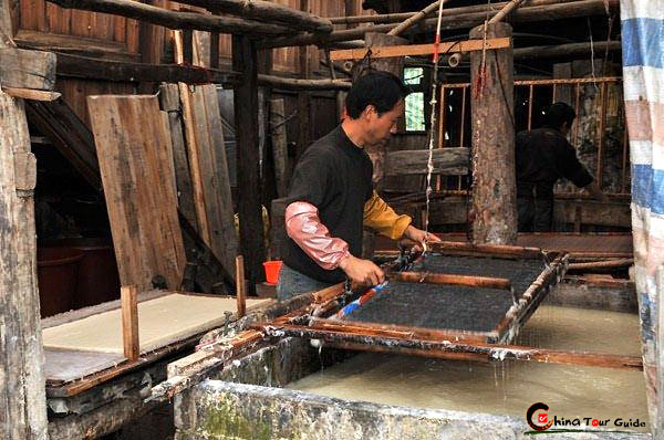 Manual paper-making