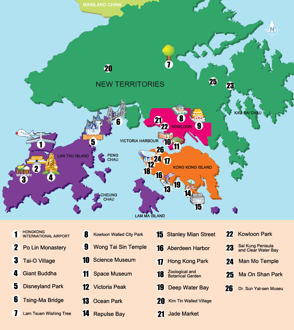 Hong Kong Maps Hong Kong Travel Guide ChinaTourGuide – Hong Kong Tourist Attractions Map