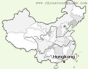 Hong Kong in the Map of China