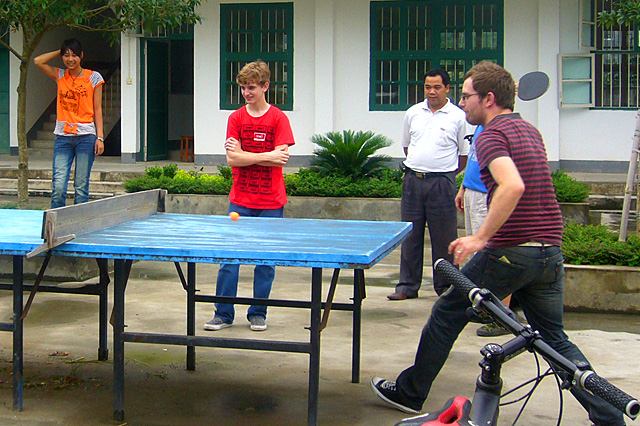 Ping-pong Playing at Local School