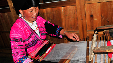 Local Miao People Weaving