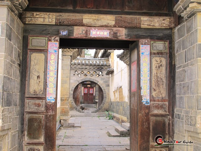 couryard of an old house in tuanshan