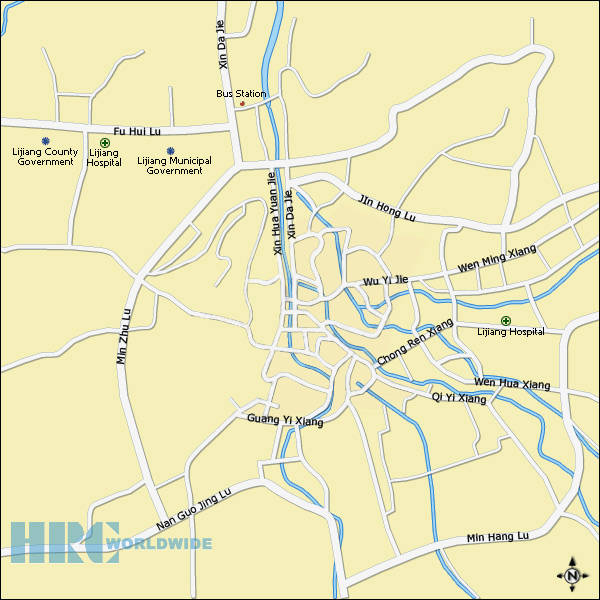 Lijiang City Map