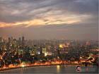 Shanghai dusk view