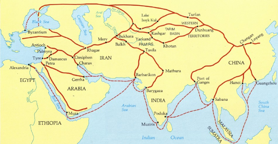 silk roads 'silk road' is in fact a relatively recent term, and for the majority of their long  history, these ancient roads had no particular name in the mid-nineteenth  century,.