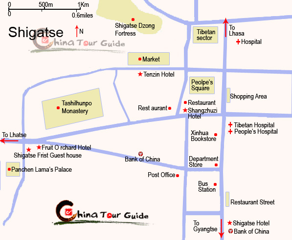 Shigaste City Map