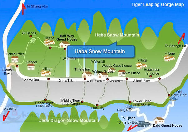 Haba Snow Mountain Map