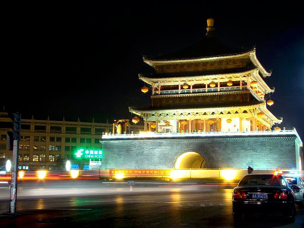 xian night view